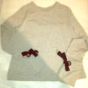 A new day bow long sleeves top